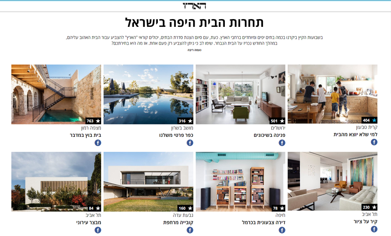 After Weeks Of Publishing Various Articles About Home Design And  Architecture Haaretz Galleria Came Up With This Contest.